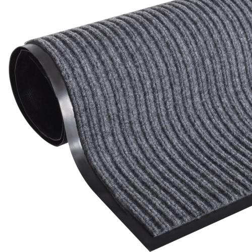 PVC gris felpudo 90 x 150 cm