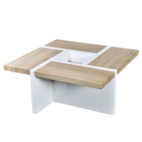 Oak / White High Gloss Coffee Table