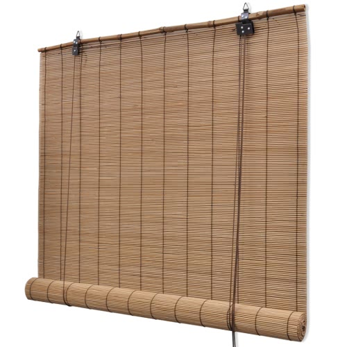 Brown Bamboo Roller Blind 80 x 160 cm