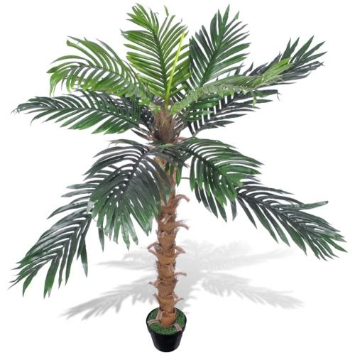 Künstliche Kokospalme mit Topf 140 cm