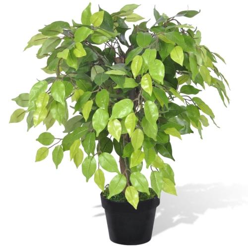 Ficus nain artificiel avec 60 cm de pot