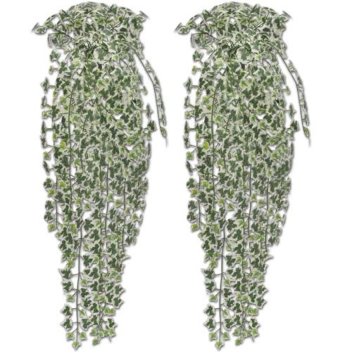 Artificial lierre vert-blanc 90 cm 2 pièces