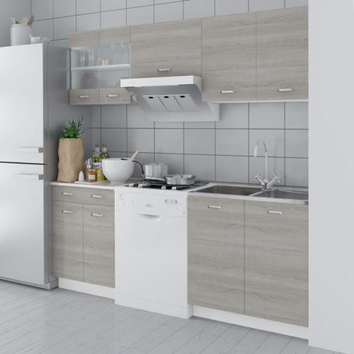 Eiche-Optik Küchenschrank Küchenkabinett 5 stk