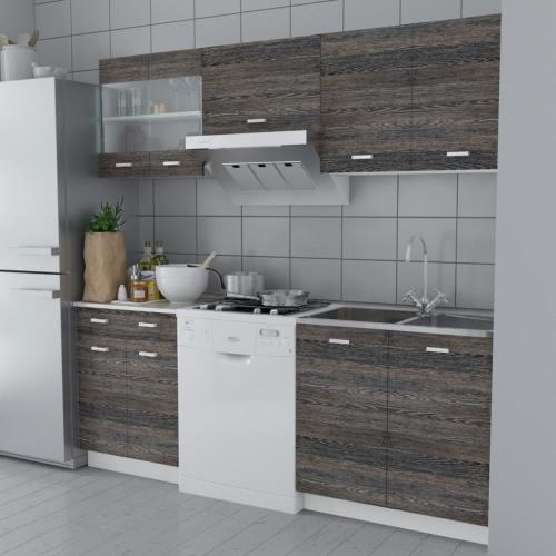 Wenge-Optik Küchenschrank Küchenkabinett 5 stk