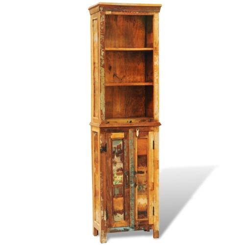 Книжная полка деревянная смесь переработанной древесины