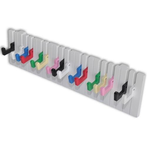 Вешалка Настенный пальто стойку Дизайн для фортепиано с 16 красочных крючков