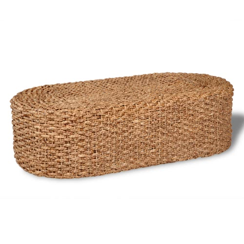 Hand Woven Oval Coffee Table Water Hyacinth