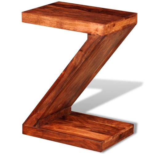 Sheesham Solid Wood Z-shaped Side Table