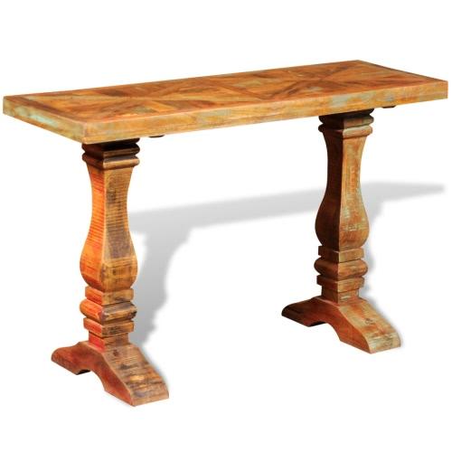 Table console en bois de récupération