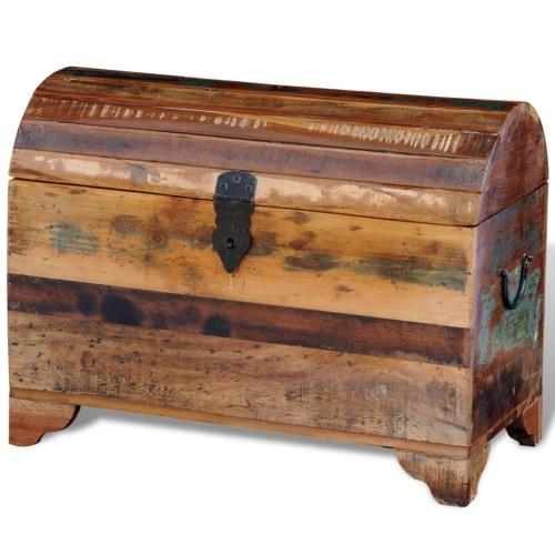 Almacenamiento cofre de madera en madera reciclada