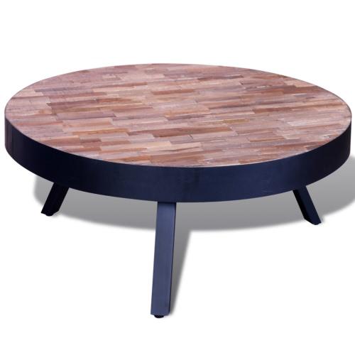 Table basse en teck ronde réutilisé