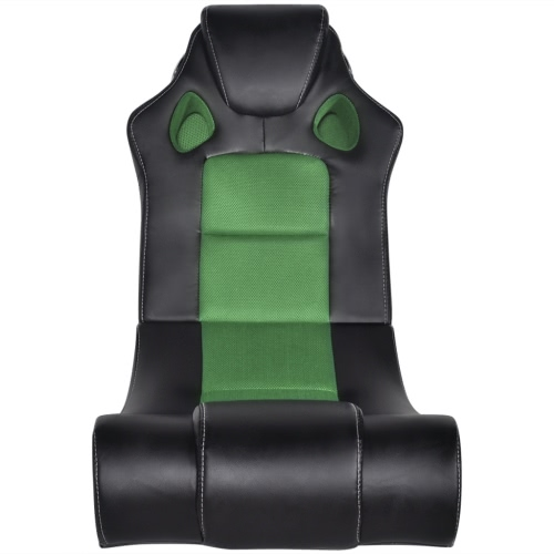 Silla Mecedora con Música por Bluetooth (Negra y Verde)