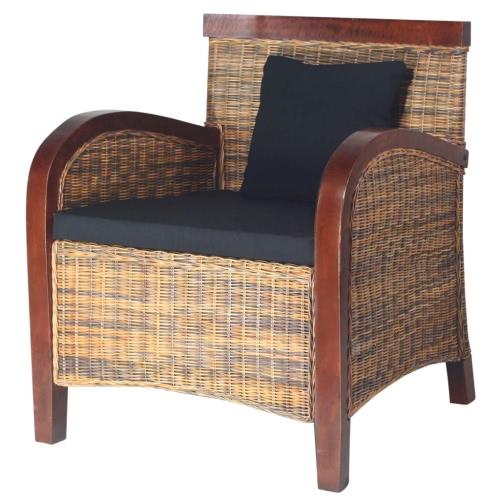 Handgewebter Rattan-Sessel