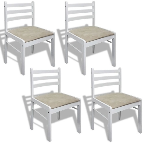 4PCS Wooden Dining Chair Kitchen Chair