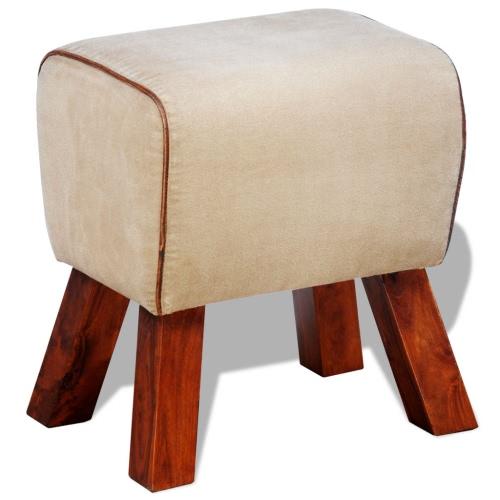 Lona de cuero del asiento del taburete 40 x 30 x 45 cm