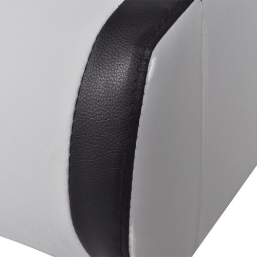 Cama con cabecero luminoso LED 2 cajones de cuero artificial de 180 cm