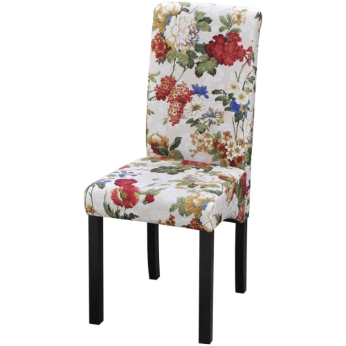 Dining Chairs 4 pcs. Floral Design wood
