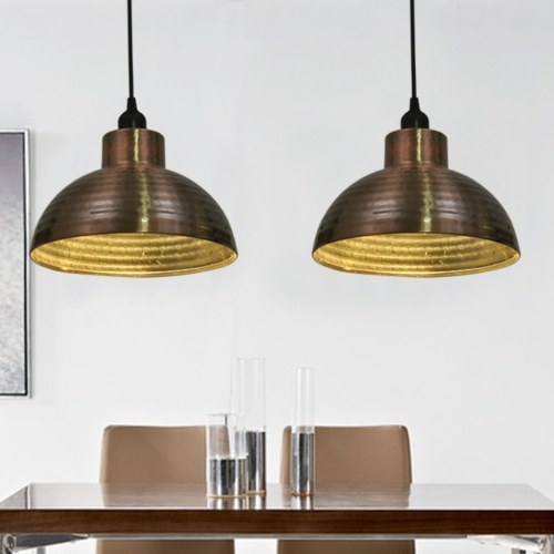 ceiling lights 2 stk hemispherical kupferfarben