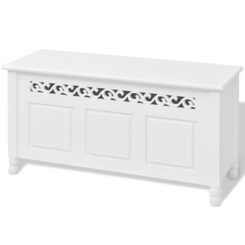 Storage bench Baroque MDF White