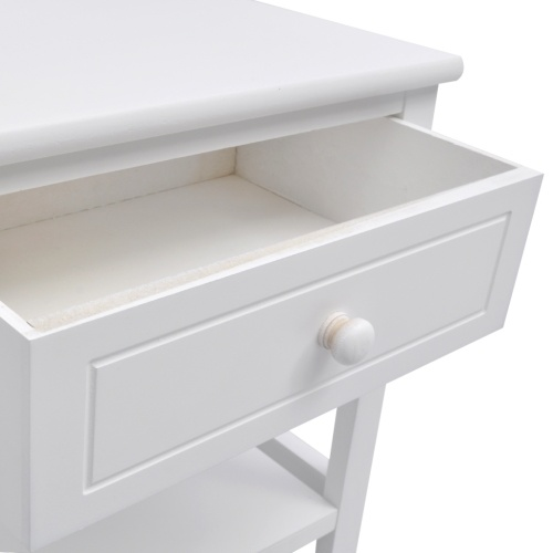 bedside table Wood 2 pcs. White
