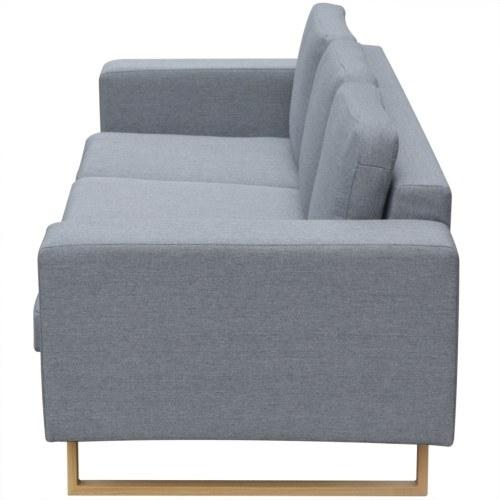 3 posti grigio divano in tessuto chiaro