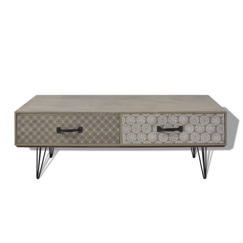 Table de café  100x60x35 cm Gris
