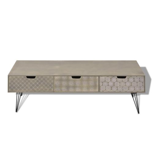 Шкаф для телевизора с 3 ящиками 120x40x36 см серый
