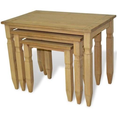 Стол для вставки 3 шт. Стиль конической короны Мексики
