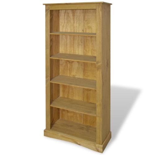 5-Tier Bookcase Mexican Pine Corona Range 81x29x170 cm