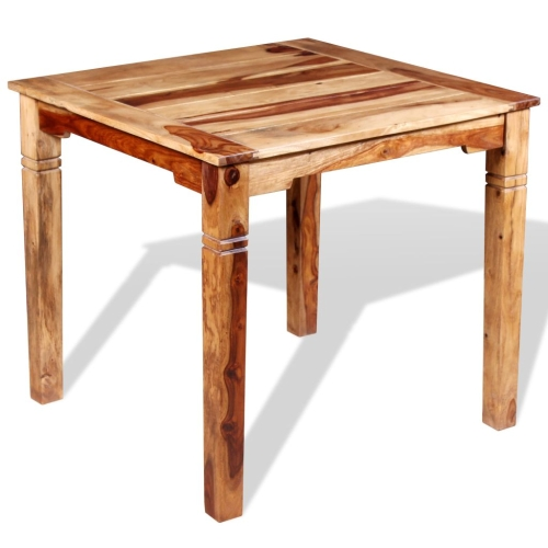 Dining Table Solid Sheesham Wood 82x80x76 cm
