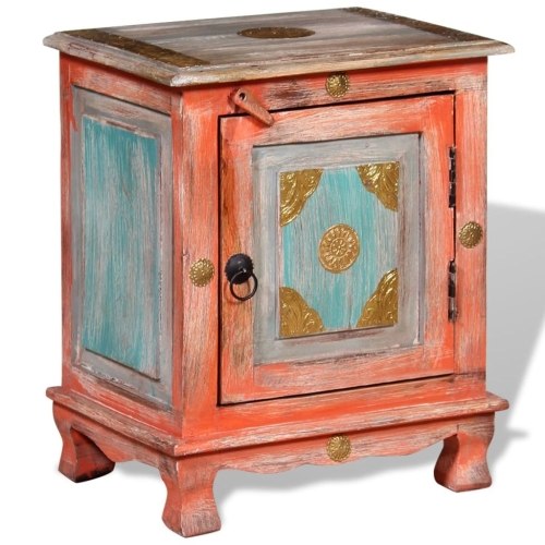 Nightstand Solid Mango Wood Orange