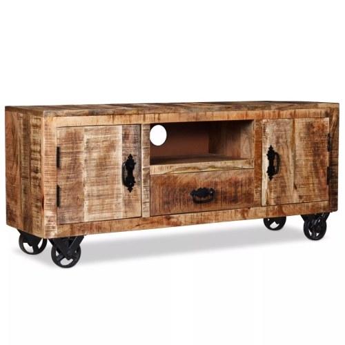 Шкаф для телевизора Грубое дерево из манго 120 x 30 x 50 см
