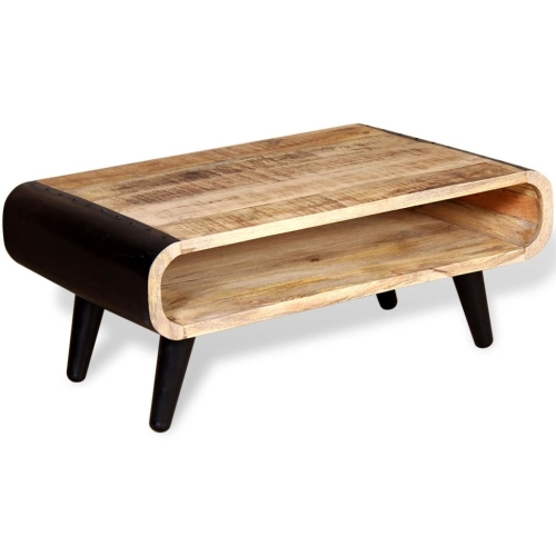 Coffee Table Rough Mango Wood 90x55x39 cm