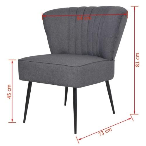 Коктейльный стул темно-серый