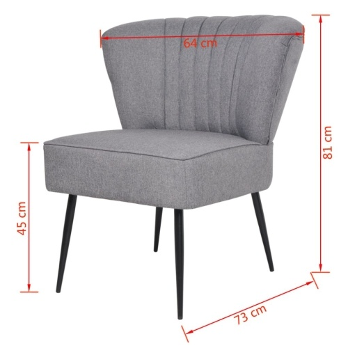 Chaise de cocktail gris clair