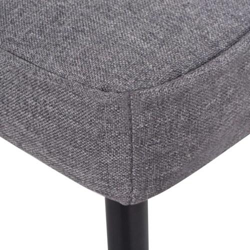 Cadeira de cocktail com tecido de cabeceira cinza claro