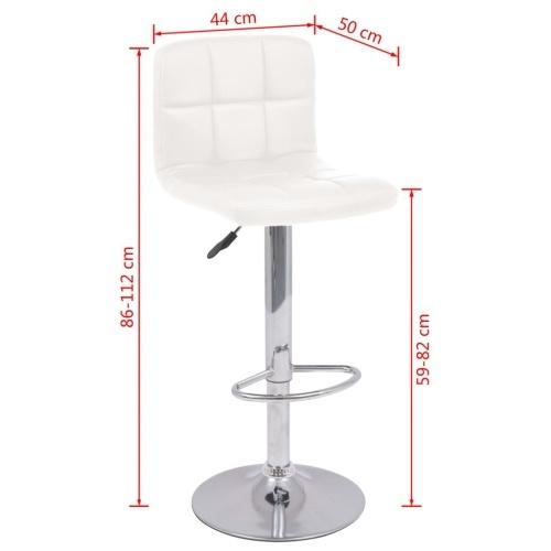 Поворотный барный стул 2 шт. Имитация кожаная белая