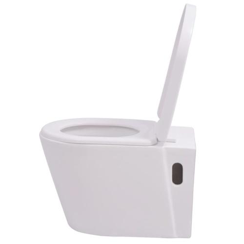 Wc sospeso in ceramica bianco
