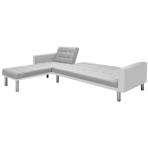 Угловой диван-ткань 218 x 155 x 69 см Белый и серый
