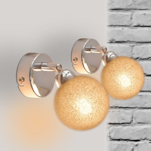 Настенные светильники 2 шт. G9 хром