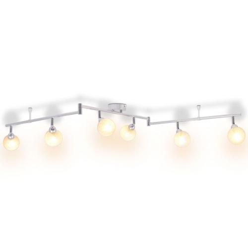 Потолочный светильник 6-факельный G9 хром