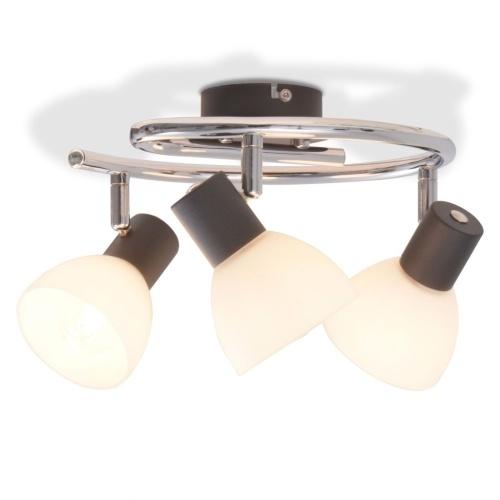 Потолочный светильник с 3 прожекторами E14 Черный