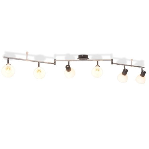 Потолочный светильник с 6 прожекторами E14 Черный