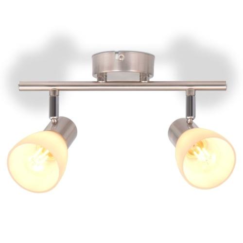 Потолочный светильник с 2 прожекторами E14 серебристый