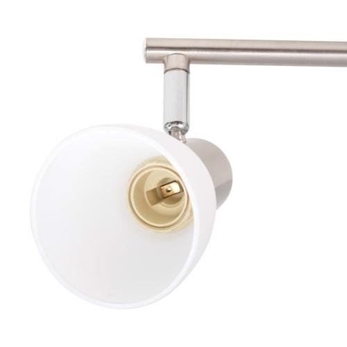 Потолочный светильник с 3 прожекторами E14 серебристый
