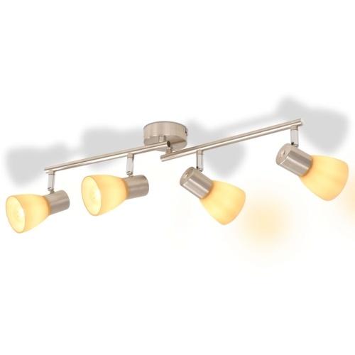 Потолочный светильник с 4 прожекторами E14 серебристый
