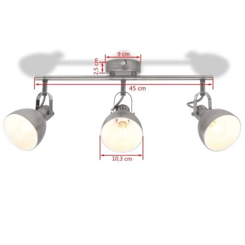 Потолочный светильник для 3 ламп E14 Серый