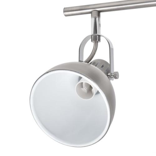 Потолочный светильник для 4 ламп накаливания E14 серый
