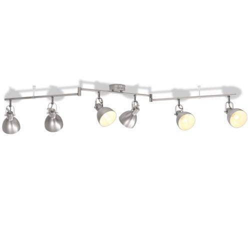 Потолочный светильник для 6 ламп накаливания E14 серый