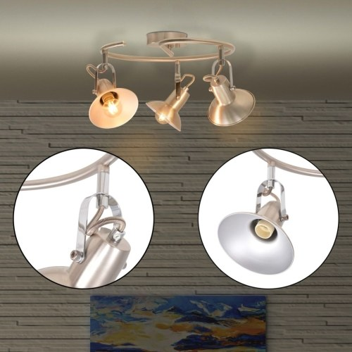 Потолочный светильник для 3 ламп E14 серебристый
